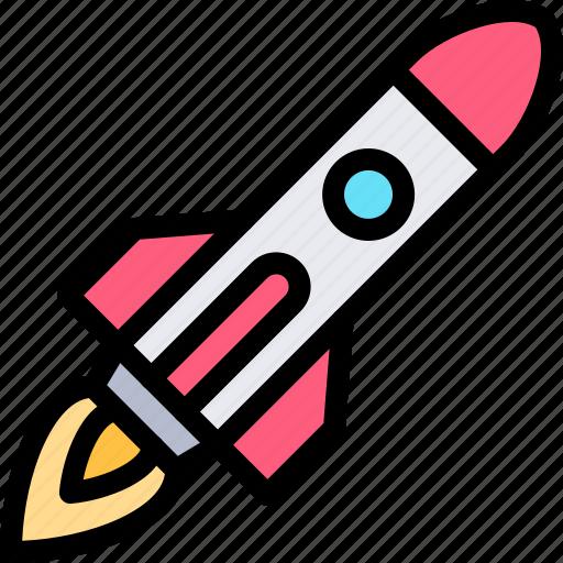 rocket, transport, transportation, vehicle icon