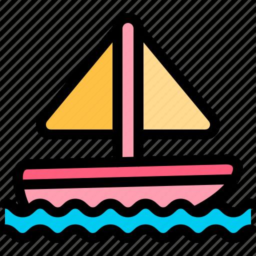 boat, sail, transport, transportation, vehicle icon