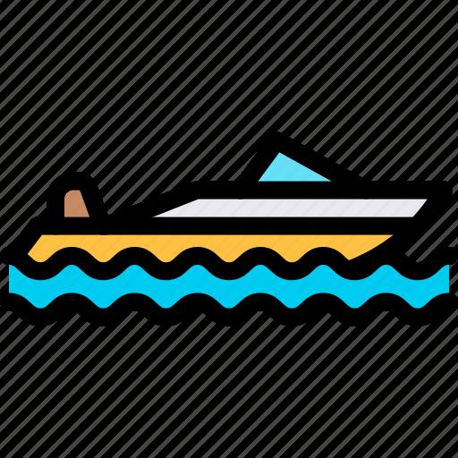 boat, speed, transport, transportation, vehicle icon