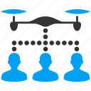 clients, control, drone, multicopter, people, quadrocopter, technology icon