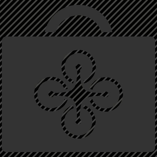 aircraft, briefcase, case, drone, quadrocopter, service, technology icon