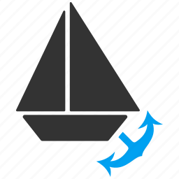 anchor, harbor, harbour, marine, naval, sea port, seaport icon