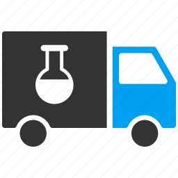 chemical, delivery, logistics, shipment, shipping, transportation, truck icon