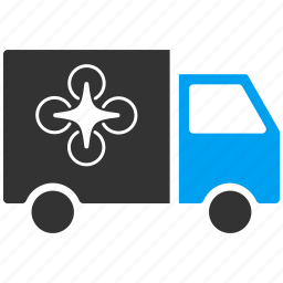 deliver, delivery, drone, logistics, quadcopter, shipment, transportation icon