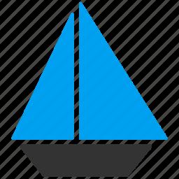 boat, cruise, sailboat, ship, transport, vessel, yacht icon