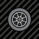 auto, car, garage, repair shop, tire, tyre, wheel icon