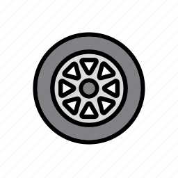 auto, car, garage, repair shop, tire, tyre, wheel icon