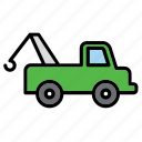 auto, automobile, car, garage, repair shop, tow, towing icon