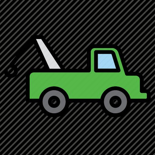 auto, automobile, car, garage, repair shop, tow, towing icon