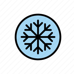 auto, car, cardial, gauge, indicator, snow, snowflake icon