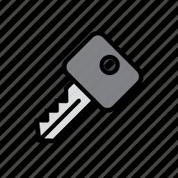 auto, automobile, car, key icon