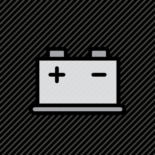 auto, automobile, battery, car, garage, repair shop icon