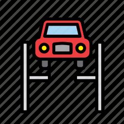 auto, automobile, car, elevator, garage, machine, repair shop icon