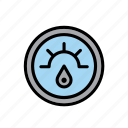 car, dial, fuel, gasoline, gauge, indicator, oil icon