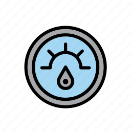 car, dial, fuel, gasoline, gauge, indicator, oil icon