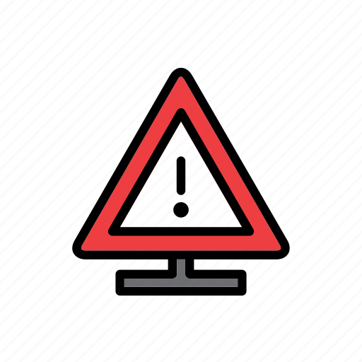 accident, attention, auto, car, danger, sign, traffic icon