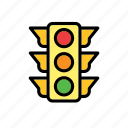auto, automobile, car, traffic light icon