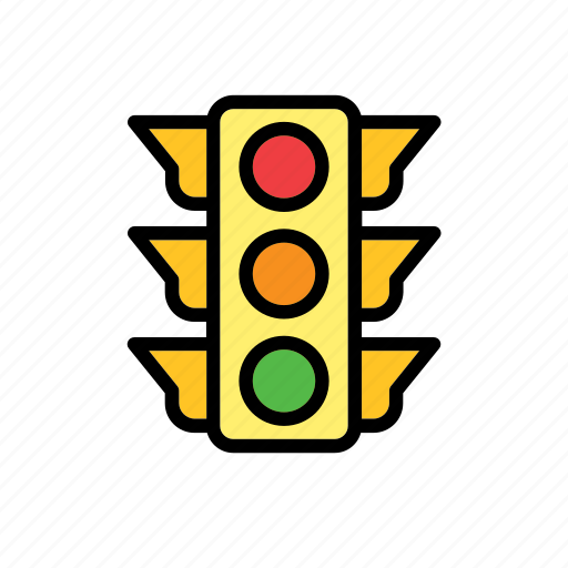 auto, automobile, car, traffic light icon