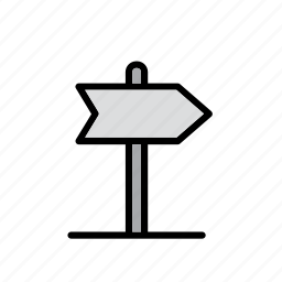 arrow, car, direction, indication, sign, traffic, travel icon