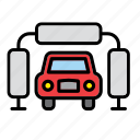 auto, car, clean, garage, machine, repair shop, wash icon