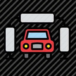 auto, car, clean, garage, machine, repair shop, wash icon