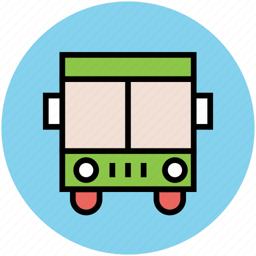 bus, passenger bus, public bus, school bus, transport icon
