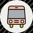 autobus, bus, coach, omnibus, school bus, transportation, travel icon