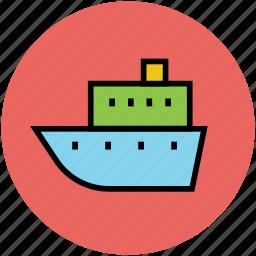 boat, cruise, ship, shipment luxury cruise, shipping, vessel icon