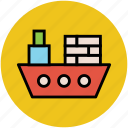 barge, boat, sailboat, ship, shipment, vessel, watercraft, yacht icon