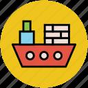 barge, boat, sailboat, ship, shipment, vessel, watercraft, yacht icon