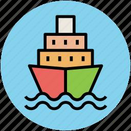 boat, ship, shipment cruise, travel, vessel icon