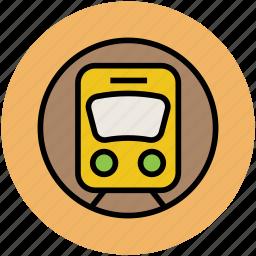 cortege, train, tramway, transport, underground train icon