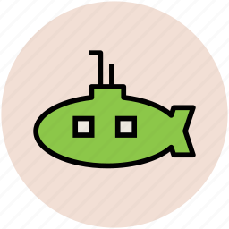 boat, ocean, ship, submarine, underwater ship, vessel icon
