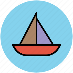 boat, journey, sail, sailboat, sailing, sea, transportation, travel, yachting icon
