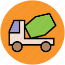 cement truck, cement vehicle, concrete carrier, construction vehicle, truck, vehicle icon