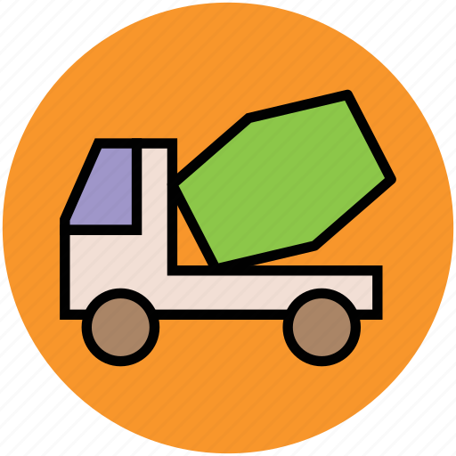 cement truck, cement vehicle, concrete carrier, construction vehicle, truck, vehicle icon