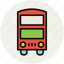 bus, double bus, double decker, public transport, transport, vehicle icon