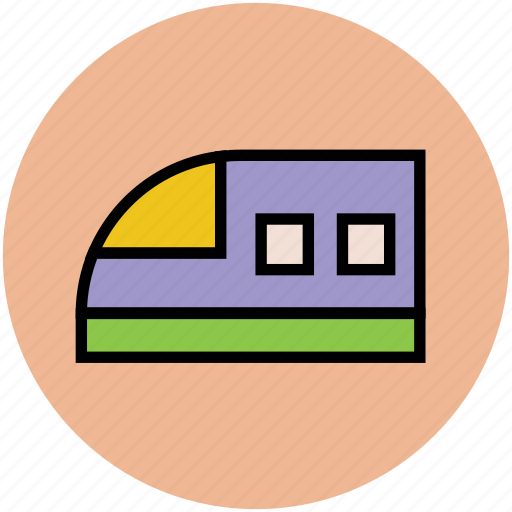 bullet train, high speed train, train, tram icon