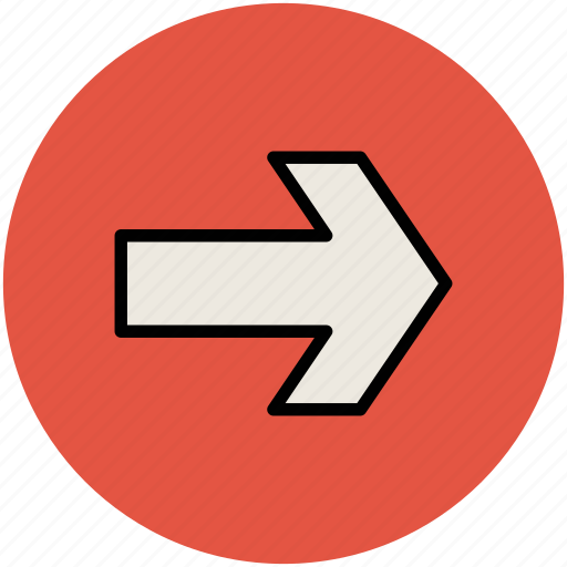 arrow, direction, direction arrow, right arrow icon