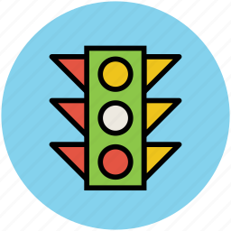robots, signal lights, stop lights, traffic control signals, traffic lamps, traffic lights, traffic semaphore, traffic signals icon