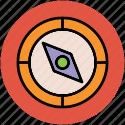 compass, gps, navigation, navigational, speedometer icon