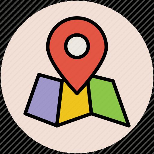 gps, locator, map pin, navigational, pin icon