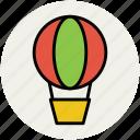 air balloon, air balloon basket, fly, flying, gas balloon, travel icon