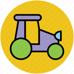 road roller, tractor, transport, vehicle, work icon