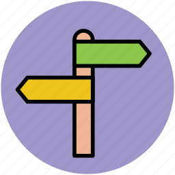 destination, directions, directions signs, opposite directions, signpost icon