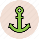 anchor, direction sea, marine, sea, ship icon