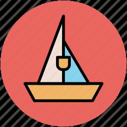boat, journey, sail, sailboat, sailing, sea, transportation, travel, yachting icon