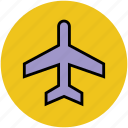 aeroplane, airbus, airliner, airplane, airship, plane, travel icon