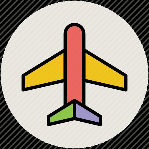 aeroplane, airbus, airliner, airplane, airship, plane, travel icon