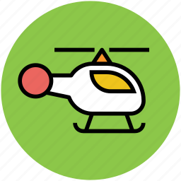 air transport, chopper, emergency flight, helicopter, rotorcraft, travel icon
